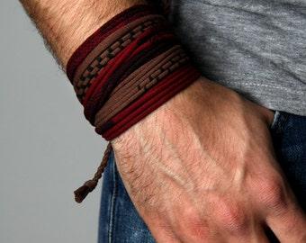 Mens Bracelet, Gift for Men, Boyfriend Gift, Mens Gift, Festival Clothing, Burning Man, Husband Gift, Wrap Bracelet, Gift for Boyfriend, Men