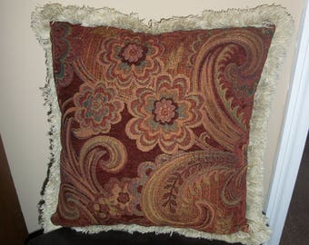 Floral and Paisley Pillow