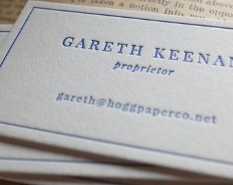 The Esquire – Custom Letterpress Printed Calling Cards 100ct
