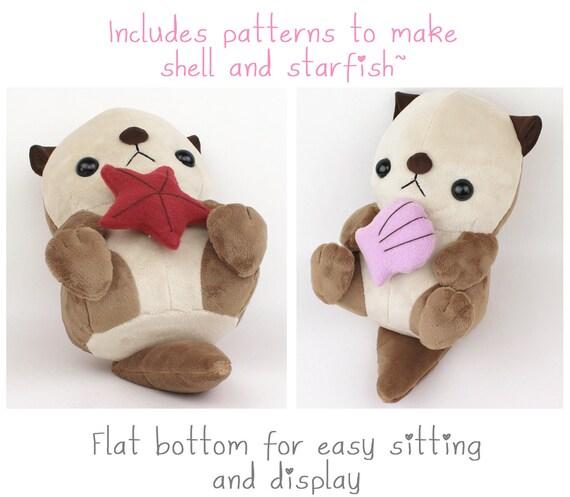PDF sewing pattern - Sea otter plush stuffed animal tutorial with ...