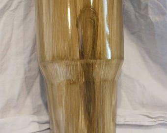 30 oz woodgrain tumbler cup customizable