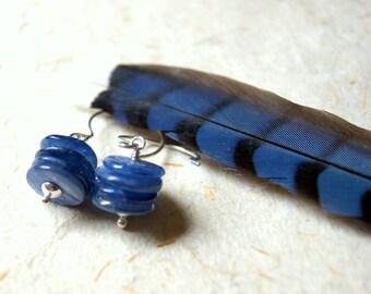 Kyanite Cairn Earrings - Blue Kyanite Stacked Stone Earrings