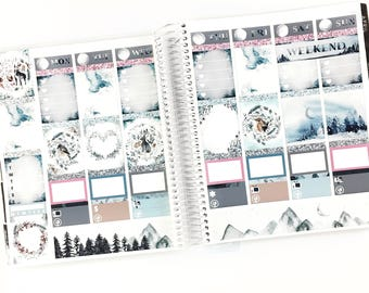 Winter Sonata Planner Stickers Weekly Kit - For use with Erin Condren Vertical Lifeplanner // 23