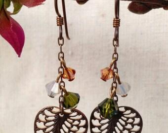 Lace Leaf Earrings