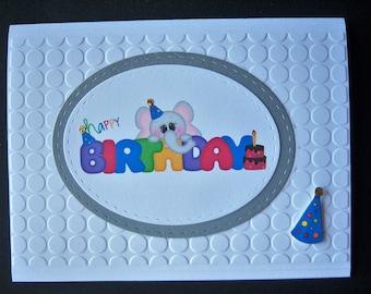 Cute Little Elephant Birthday Card