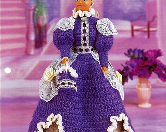 Violets & Lace Crochet Pattern Annies Fashion Doll Crochet Club FCC15-02