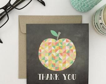Thank You Teacher Card {GEO APPLE}