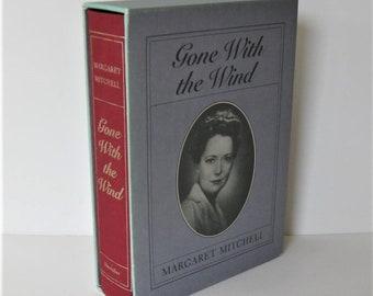 "Vintage ""Gone with the Wind"" boxed 50th Anniversary Hardback Book, Margaret Mitchell, civil war, Scarlet O'Hara, Rhett Butler, gift idea"
