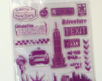 Crystal Destination NYC 14 x 18 cm - 18 stamps stamps