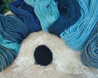 Natural Plant Dye from Blue Castle Fiber Arts - Indigo Navy Blue for Wool