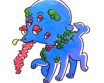 """Goopy Pukey Monster Dog Print 8.5""""x11"""""""