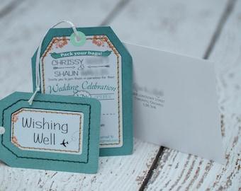 Luggage Tag Wedding Invitations, Destination Invites  | Handmade in Canada by ---- www.empireinvites.ca ---