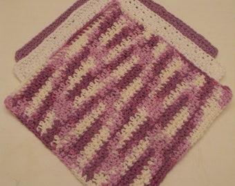 Set of 3 Crochet Dishcloth