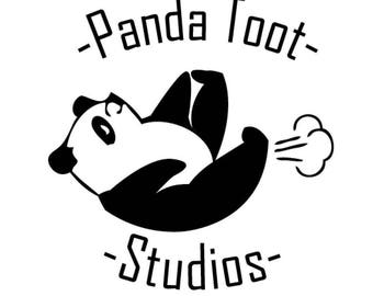 Panda Toot Sticker