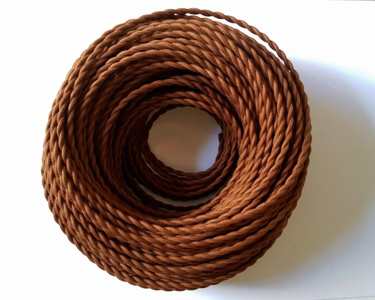 Verdreht braun 3.28 elektrischen Draht DIY Kabel Antik