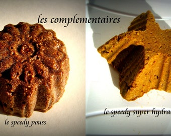 """solid shampoo: the complementary duo, for crepus hair the """"speedy pouss"""" and the """"speedy super moisturizer"""" (45-65gr) each"""