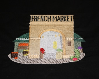New Orleans French Market Embroidery designs