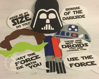 Starwars photo booth props