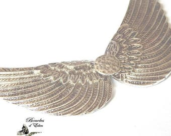 1 support silver 101x85mm wings chandelier statement necklace