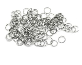 Set of 300 3 mm stainless steel rings