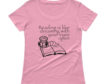 Reading Is Like Dreaming...Ladies' Scoopneck T-Shirt