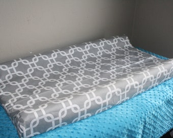 Changing Pad Cover - Gray Gotcha Contour Changing Pad Cover, Links, Modern
