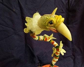 The Chamberlain: Handmade sculpture of a very strange bird