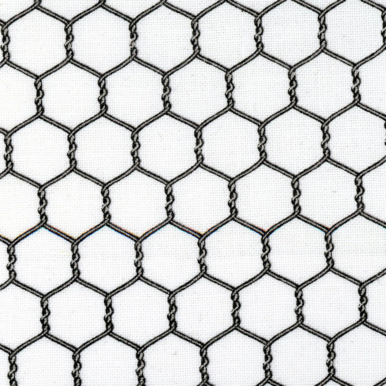 Gray & White Chicken Wire Fabric, Elizabeths Studio, Landscape ...