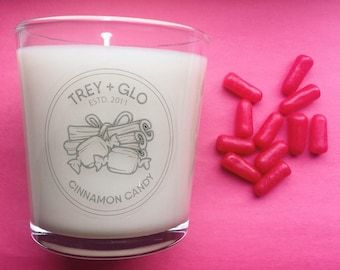 Cinnamon candy triple-scented soy candle (hand poured)