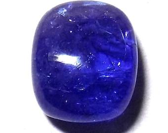 40% Sale -- Tanzanite, Cabochon Stone, Rectangular Shape, 1 pc, 11 x 13 mm Size.