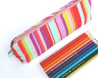 Pencil Case, Stationery Bag, Zipper Pouch Large Makeup Bag, Pencil Pouch, Brush Case, Cosmetic Bag, Flat Bottom Pouch Bag, Planner Pen Pouch