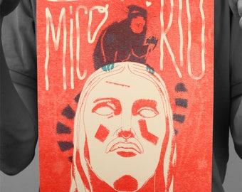 "Post ""O mico do Rio"" / Brazil / Edwood / poster / Risographie / A4 / 21 x 29,7 cm"