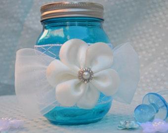 Baby Blue Mason Jar for the perfect Baby Nursery