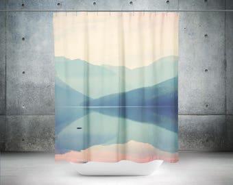 Mountain Shower Curtain   Photo Shower Curtain   Wanderlust Shower Curtain   Lake Shower Curtain   Wanderlust Bath Curtain   Lake Bath