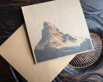 Matterhorn greetings card