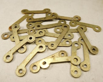 Alarm Clock Case Parts - Case Parts - Brass plates - Clock parts - Steampunk Jewelry Findings - set of 16 - G26