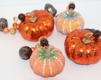 Pumpkin Thanksgiving Acorns Tablecloth Weights Set of 4