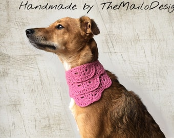 Lace Dog Bandana, Pink Dog Bandana, Rescue Dog Bandana