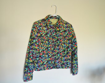 Corduroy Flower Hippy Jacket