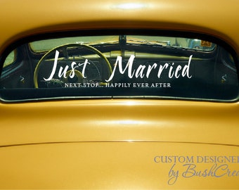 Just Married Wedding Car Decal Decoration Wedding Decor Wedding Gift Car Decor Wedding Reception Decor Decoration 107