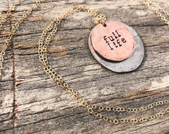 28 in. Stack Metal Stamped Necklace Customizable