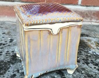 Pottery desk box