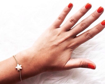 Silver bracelets with starfish resin