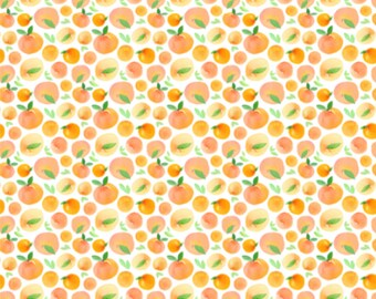 Watercolor Peaches, Peach Bedding - Swaddle, Changing Pad Cover, Boppy Cover, Crib Sheet, Minky Blanket, Baby Blanket, Muslin Swaddle