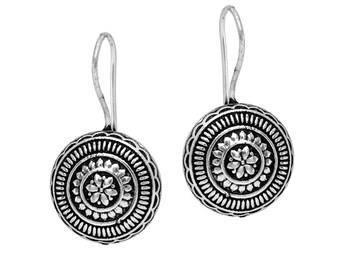 German silver/ oxidized stud earring/jhumka