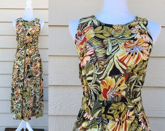 80's Floral Hawaiian Dress