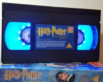 Retro VHS Lamp Originals Harry Potter Nightlight Lamp Choose your Movie! Great personal gift. Thanksgiving, Birthday Mothers Day