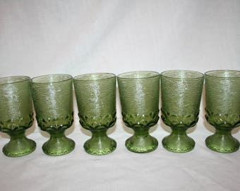 """Franciscan Madeira 5 3/4"""" Water Goblets (6)"""