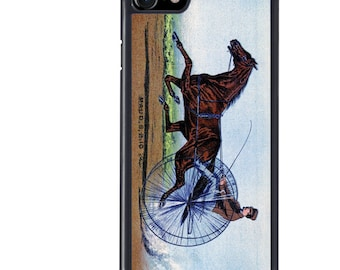 Horse Phone Case, iPhone 5 5s 5c 6 6s 6+ 6s+ SE 7 7+ 8 8+ X Galaxy S7 S8 S8+, Horse Rider, Harness, Racing,Trotting, Jockey, Race, Edge Plus