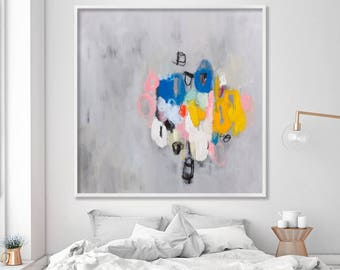 Abstract Painting Giclee print Large wall art, Canvas painting Fine Art Print living room wall decor by Duealberi